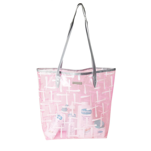 PVC Shopping Bag with Leather Handle